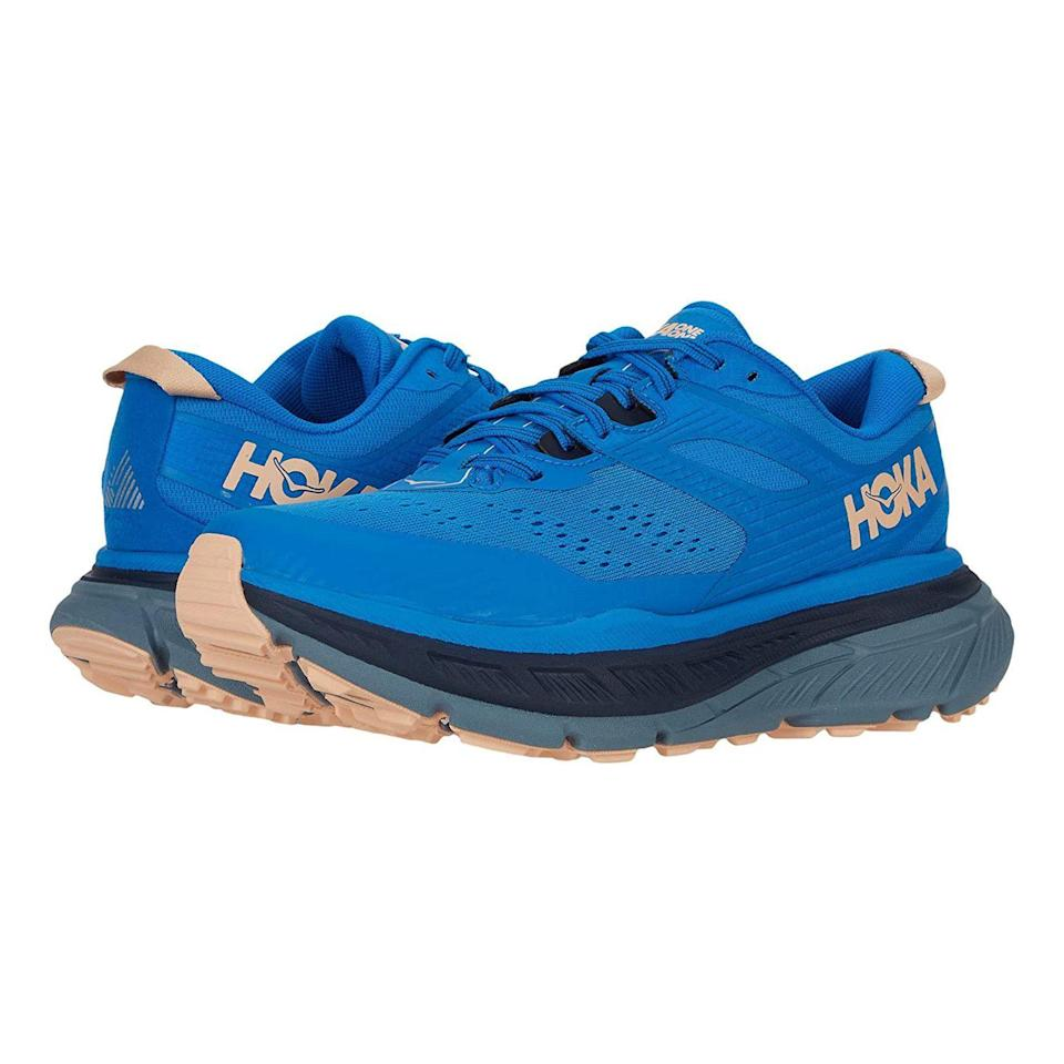 "<p><strong>Hoka One One</strong></p><p>zappos.com</p><p><strong>$159.95</strong></p><p><a href=""https://go.redirectingat.com?id=74968X1596630&url=https%3A%2F%2Fwww.zappos.com%2Fp%2Fhoka-one-one-stinson-atr-6-deep-well-evening-primrose%2Fproduct%2F9396280&sref=https%3A%2F%2Fwww.prevention.com%2Ffitness%2Fworkout-clothes-gear%2Fg19791835%2Fbest-hiking-shoes-for-women%2F"" rel=""nofollow noopener"" target=""_blank"" data-ylk=""slk:Shop Now"" class=""link rapid-noclick-resp"">Shop Now</a></p><p>With thick soles and tons of tread, these shoes seamlessly switch between trail running and hiking—meaning you can do both without having to deal with multiple pairs. Plus, <strong>they're extra comfy for people dealing with mobility issues</strong>. ""I walk four to six miles a day and have bad knees, and have had <a href=""https://www.prevention.com/beauty/a20497385/best-shoes-for-plantar-fasciitis/"" rel=""nofollow noopener"" target=""_blank"" data-ylk=""slk:plantar fasciitis"" class=""link rapid-noclick-resp"">plantar fasciitis</a> in the past,"" one Zappos buyer says. ""But ever since I started with my first pair of Hokas my foot pain is gone!""</p>"