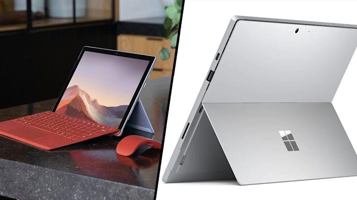 A tablet first, and a laptop second.