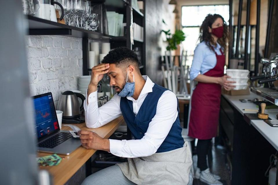 Confidence has collapsed among small business owners as the Delta variant of Covid-19 slows the economic recovery from the pandemic (Getty Images/iStockphoto)