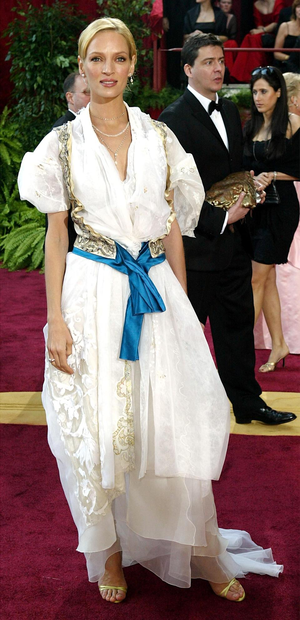 'I wore it wrong': Uma Thurman in 2004Getty