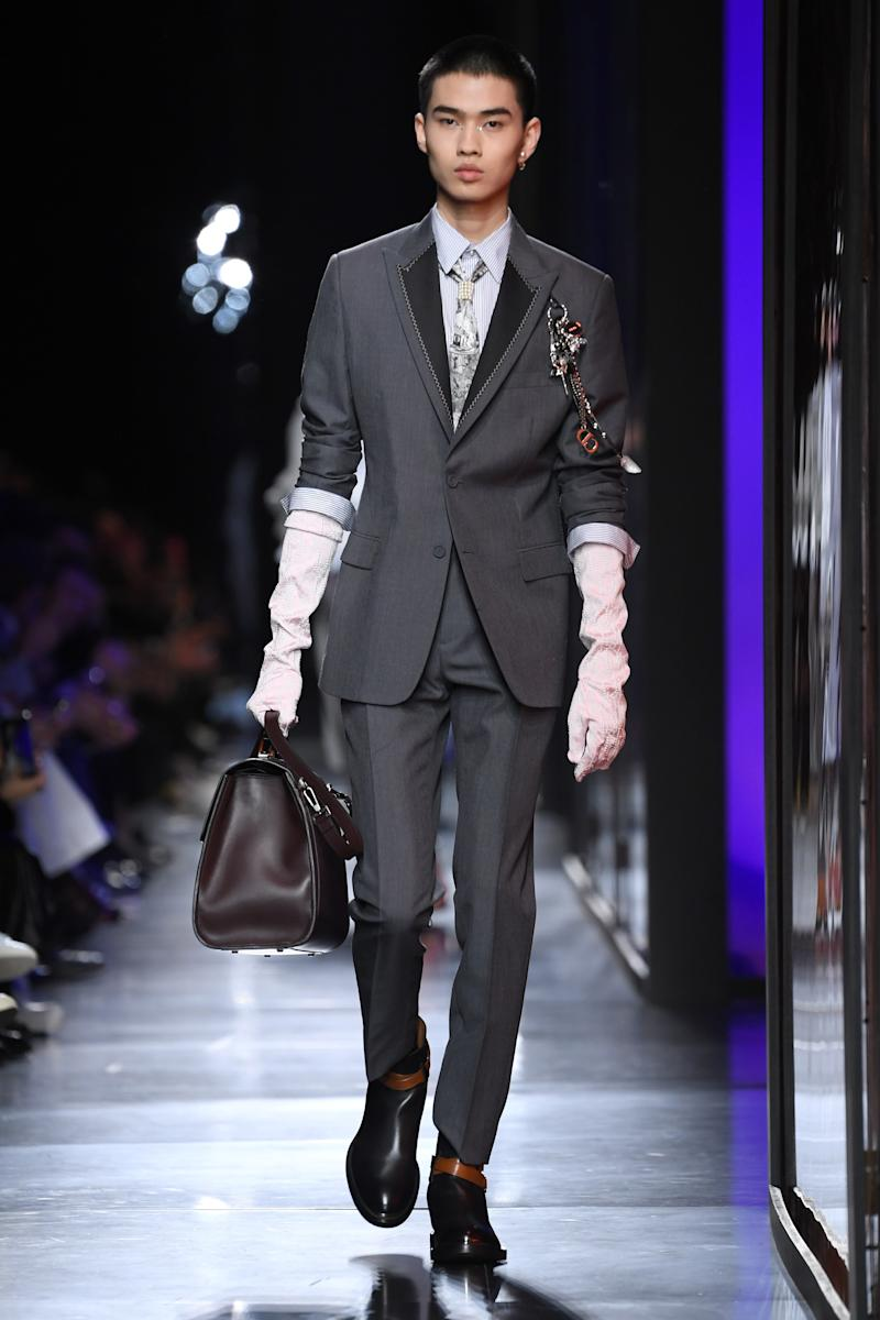 Dior Homme's Fall 2021 runway presentation in Paris, January 17, 2020.