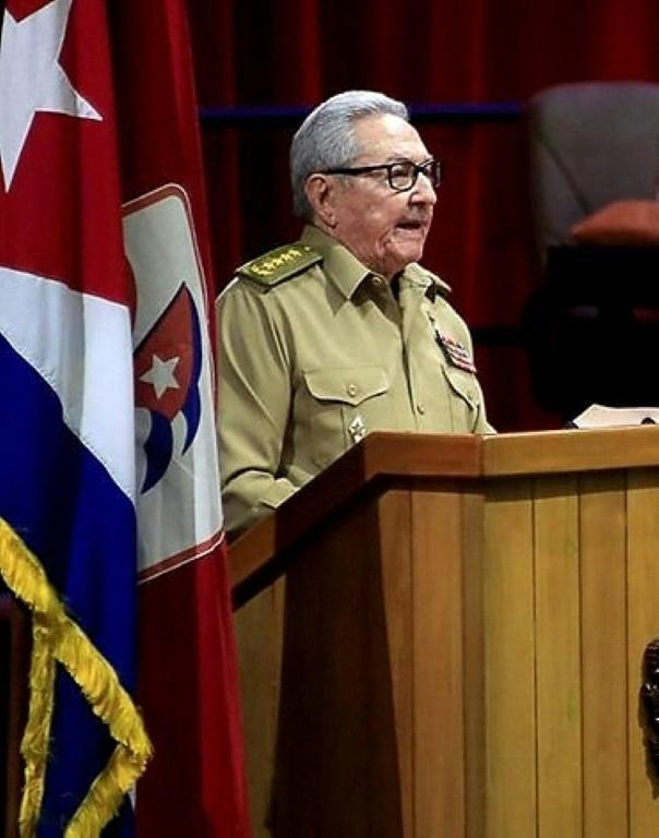 Raul Castro speakd during the opening session of congress in Havana on April 16, 2021 ahead of his departure from leadership