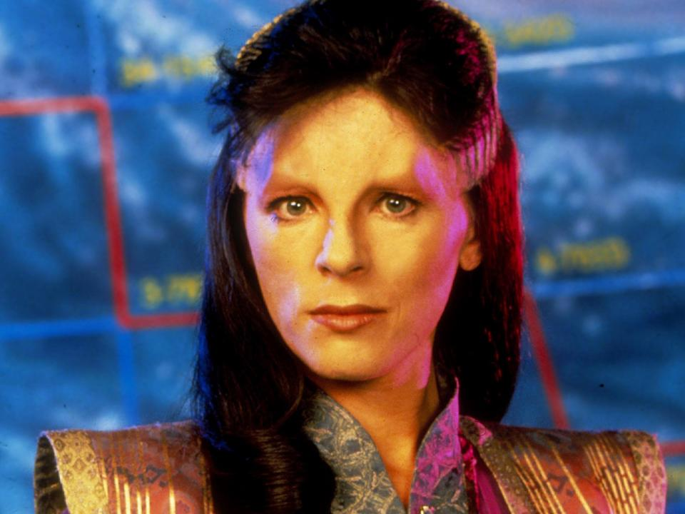 Furlan as the alien ambassador Delenn in Babylon 5Rex Features