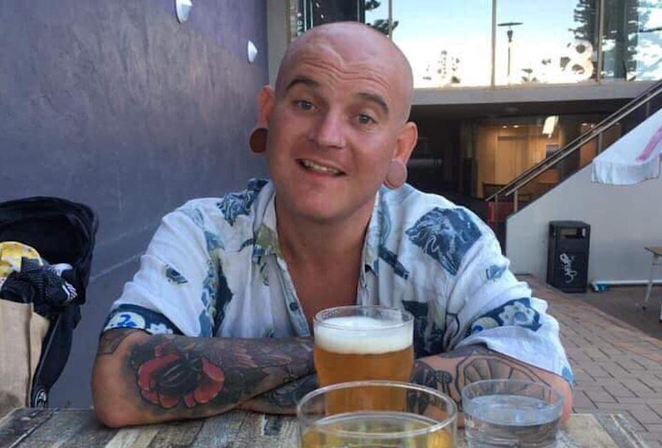 Christopher 'Kibby' Harris checked out of his Bali hotel 16 hours before his body was found near Batu Belig beach on Saturday morning. Source: Riess Willcocks/Facebook