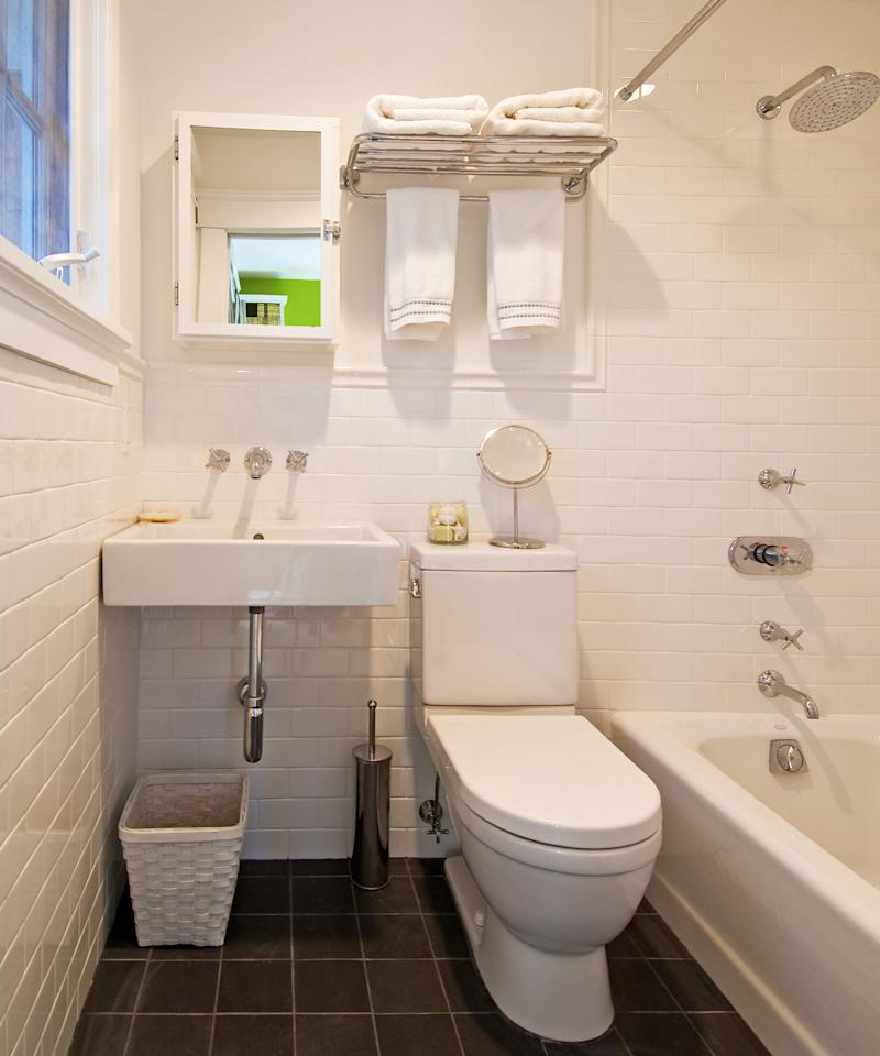 Get your bathroom organized with these 4 easy steps for A bathroom item that starts with p