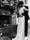 <p>Miley tied the knot with long-term boyfriend Liam Hemsworth and posted pictures of herself wearing a made-to-order Vivienne Westwood gown. The couple met on the set of 'The Last Song' in 2009, and have dated on and off ever since. <em>[Photo: Instagram]</em> </p>