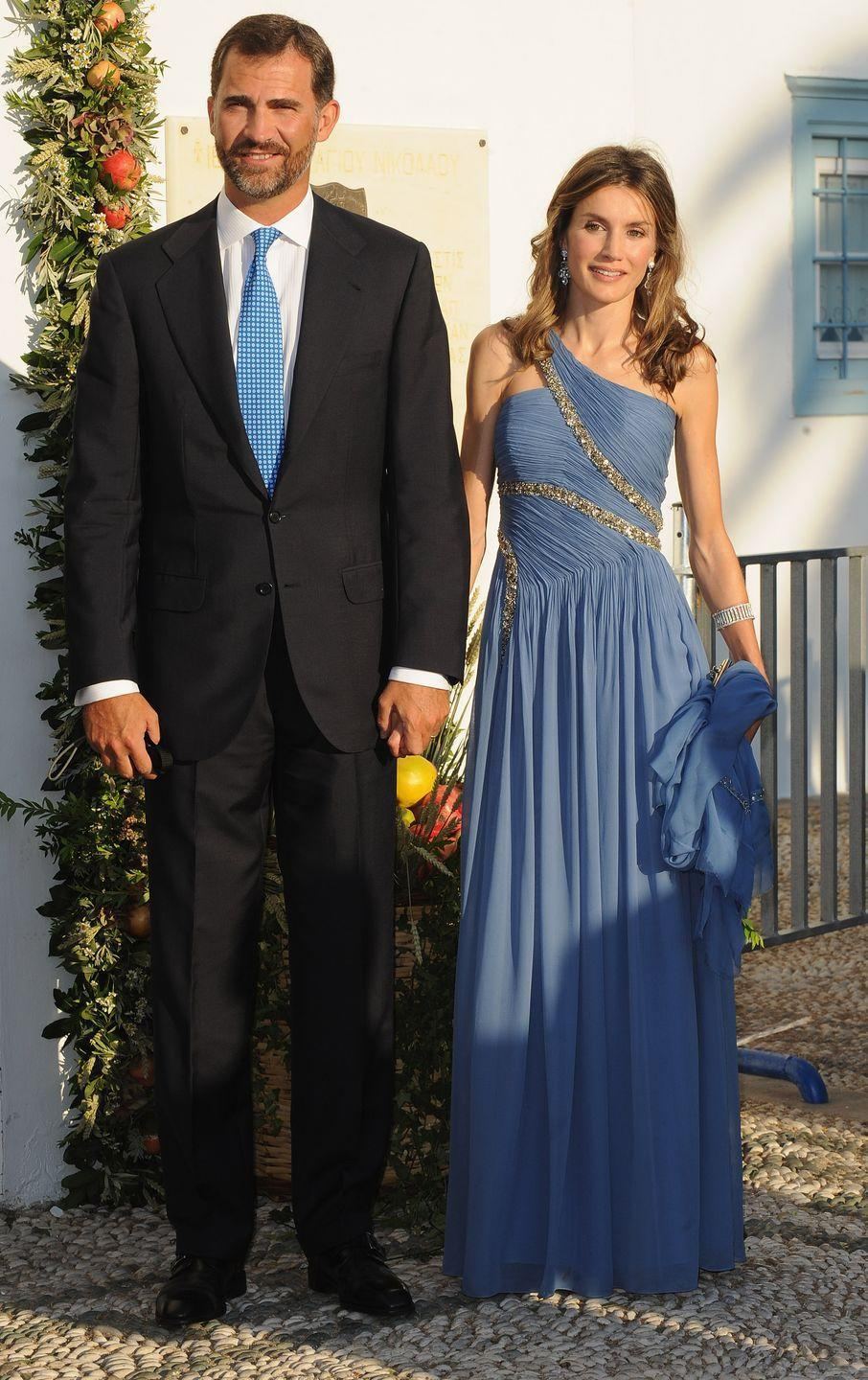 <p>Queen Letizia was a former journalist and news anchor before she married the future King Felipe VI in 2004 in Madrid, Spain. When her husband assumed the throne in 2014, she became the country's first commoner queen.</p>