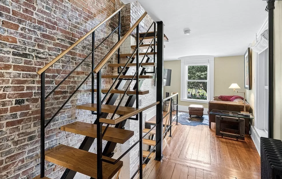 The home is three metres wide and has four floors. Source: Zillow
