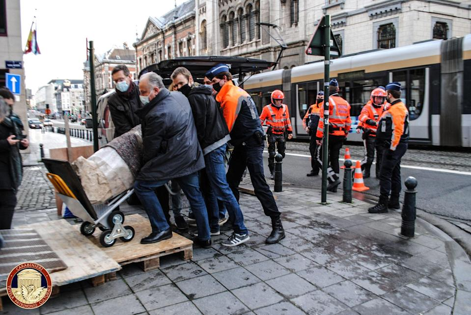 <p>The artifact was reposessed in February </p> (Italian Carabinieri Art Squad/AF)