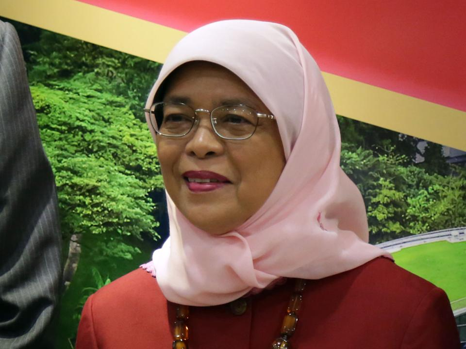 Singapore's President Halimah Yacob at the Nanyang Technological University on 23 July 2019. (PHOTO: Dhany Osman / Yahoo News Singapore)