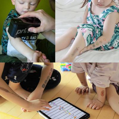 Young Prinker Users Choosing And Getting Temporary Tattoos