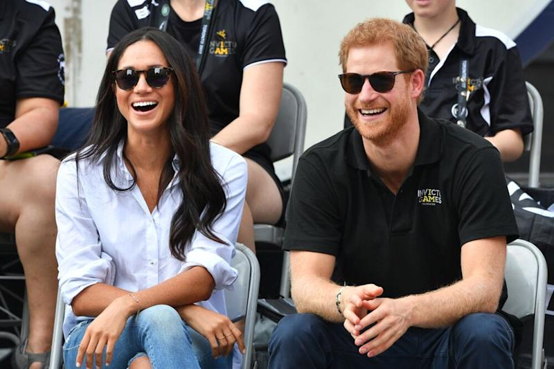 Prince Harry and Meghan Markle attending the Invictus Games in Toronto in September 2017. | Tim Rooke/REX/Shutterstock