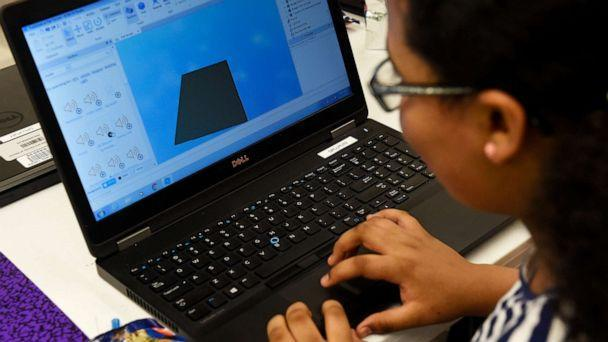 PHOTO: In this March 15, 2017, file photo, a child designs a game in Roblox. (Denver Post via Getty Images, FILE)
