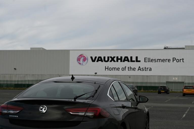 The Vauxhall factory, east of Liverpool, after the owner, French automotive group PSA (which produces brands such as Peugeot, Citroen and Opel) announced on March 16, 2020, the shutdown of all its factories in Europe due to the coronavirus