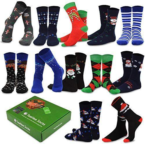 """<p><strong>Teeheesocks</strong></p><p>amazon.com</p><p><strong>$21.99</strong></p><p><a href=""""https://www.amazon.com/dp/B01N4SAHAP?tag=syn-yahoo-20&ascsubtag=%5Bartid%7C10055.g.29429168%5Bsrc%7Cyahoo-us"""" rel=""""nofollow noopener"""" target=""""_blank"""" data-ylk=""""slk:Shop Now"""" class=""""link rapid-noclick-resp"""">Shop Now</a></p><p>Just because you have to wear dress clothes or a uniform to work doesn't mean your feet can't get into the holiday spirit. This men's sock advent calendar will ensure no one – not even Santa's office helpers – has an excuse not to dress all holly jolly. </p>"""