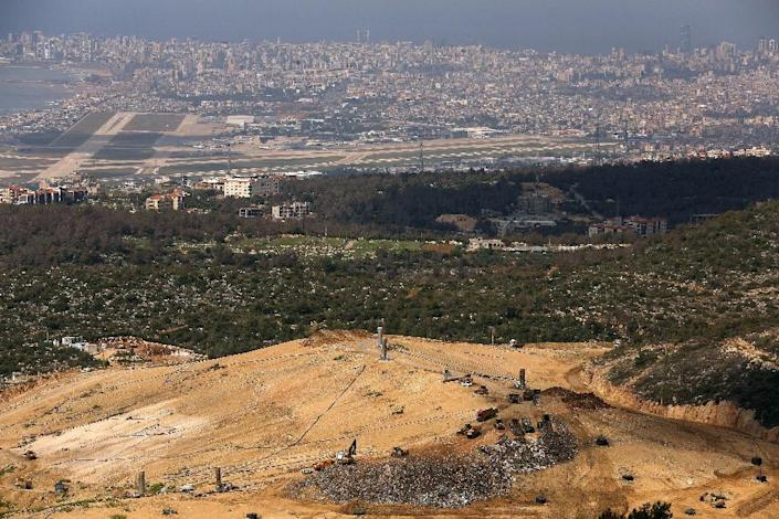 The Naameh landfill, just south of the Lebanese capital, Beirut (AFP Photo/Patrick Baz)