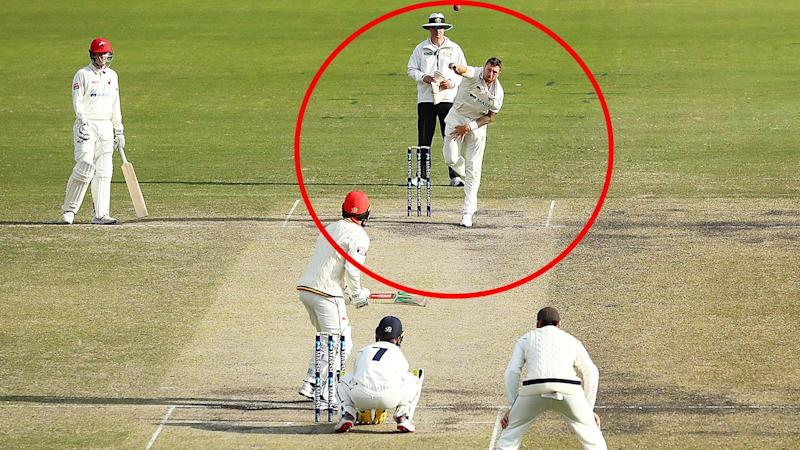 James Pattinson, pictured here bowling spin in the Sheffield Shield.
