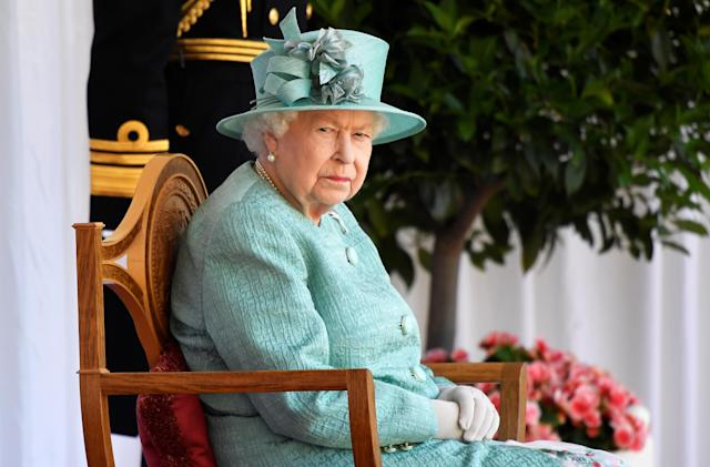 The Queen was not joined by family this year because of the pandemic. (Getty Images)