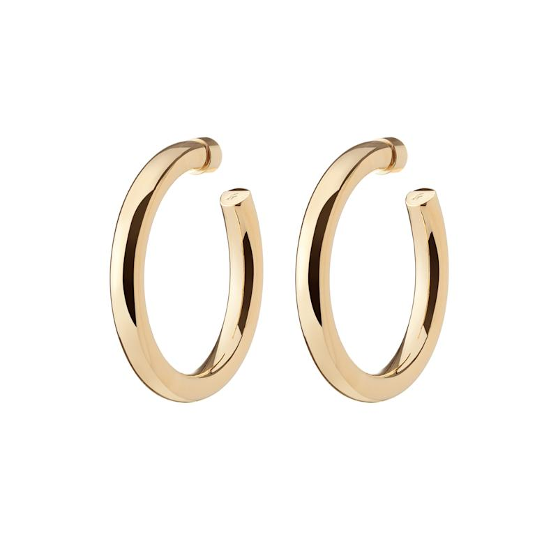 Jennifer Fisher Samira Gold-Plated Hoop Earrings