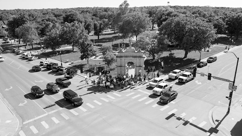 A Protest in response to the killing of George Floyd in Heritage Park, Junction City, Kans., May 29, 2020. | Doug Barrett
