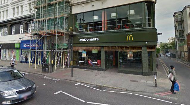 McDonald's apologised for the incident at the North London restaurant. Source: Google Maps