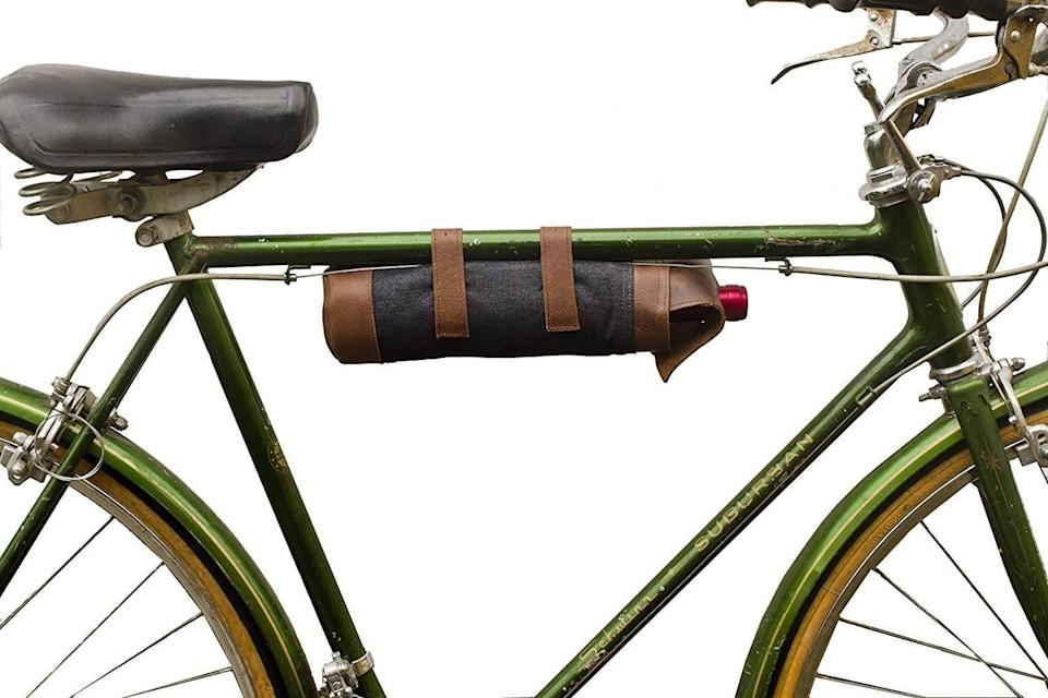 """<h2>Hide & Drink Repurposed Denim Bicycle Wine Caddy<br></h2><br>We all know that biking is a great way to get around these days. Equip your friends for those socially distant park dates with a cycle-friendly wine carrier made from recycled denim.<br><br><strong>Hide & Drink</strong> Repurposed Denim Bicycle Wine Caddy, $, available at <a href=""""https://www.amazon.com/dp/B015JMQIFO"""" rel=""""nofollow noopener"""" target=""""_blank"""" data-ylk=""""slk:Amazon"""" class=""""link rapid-noclick-resp"""">Amazon</a>"""