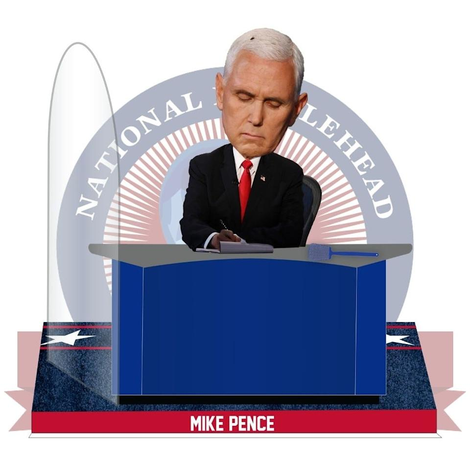 The National Bobblehead Hall of Fame and Museum is selling a Mike Pence Fly Bobblehead.