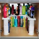 <p>Make use of verticle space with this <span>Expandable Under Sink Organizer and Storage</span> ($25).</p>