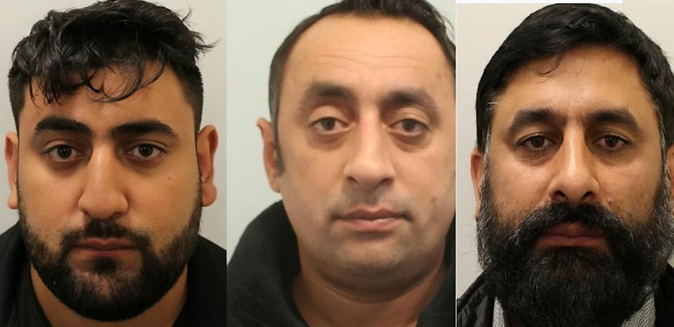 (L-R) Valentin Lupu,25, Grigore Lupu, 39, and Alexandru Lupu, 43. Three men from a Romanian organised crime group have been sentenced to 28 years imprisonment for modern slavery and Proceeds of Crime Act offences. (SWNS)