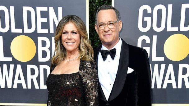 PHOTO: Rita Wilson and Tom Hanks attend the 77th Annual Golden Globe Awards at The Beverly Hilton Hotel on Jan. 05, 2020, in Beverly Hills, Calif. (Frazer Harrison/Getty Images)