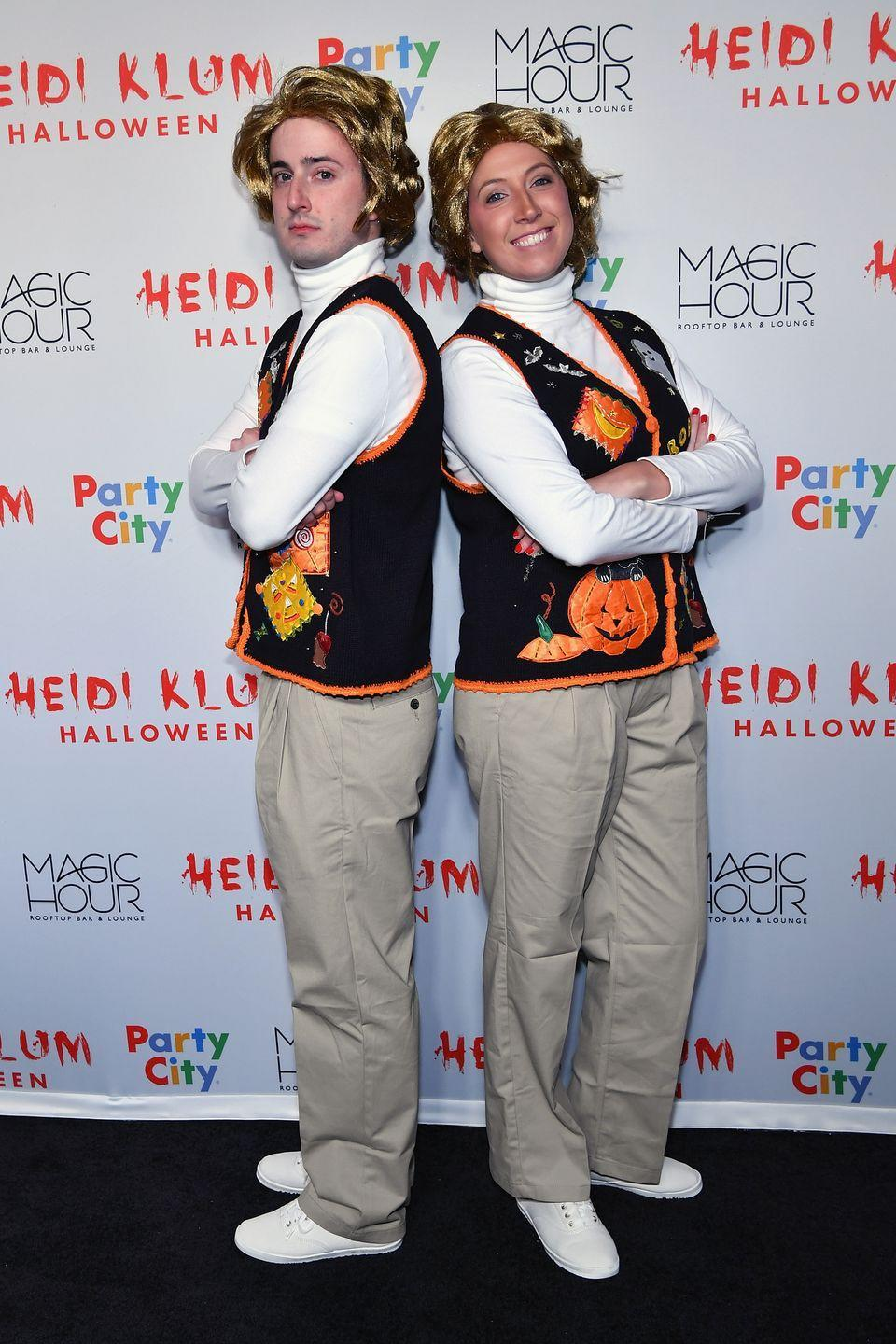 <p>Are you and your partner <em>Saturday Night Live</em> fans? If so, steal this creative costume from Bryce Dalzin and Erin Riley, who hit Heidi Klum's Halloween party in 2018 dressed as Garth and Kat from the hysterical show.</p>