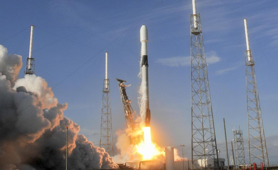 The space industry is projected to be worth trillions of dollars. Photo: Getty/Craig Bailey/Florida Today via USA TODAY NETWORK/Sipa USA
