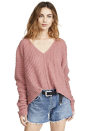 """<p><strong>Free People</strong></p><p>amazon.com</p><p><strong>$99.00</strong></p><p><a href=""""https://www.amazon.com/dp/B082DPYDQW?tag=syn-yahoo-20&ascsubtag=%5Bartid%7C10058.g.29554536%5Bsrc%7Cyahoo-us"""" rel=""""nofollow noopener"""" target=""""_blank"""" data-ylk=""""slk:SHOP IT"""" class=""""link rapid-noclick-resp"""">SHOP IT</a></p><p>Not a fan of blush or lipstick? A pop of pink in your sweater is all you need then to brighten up your look. This one runs loose and relaxed, giving you all those winter cozy sweater vibes you need.</p>"""