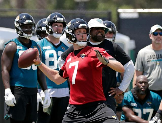 Jacksonville Jaguars quarterback Nick Foles is away from the team to deal with a personal matter. (AP)
