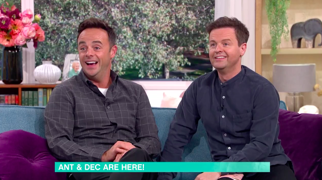 Ant and Dec were able to sit together on 'This Morning' as they've former a 'cohort' to work on their shows together. (ITV)