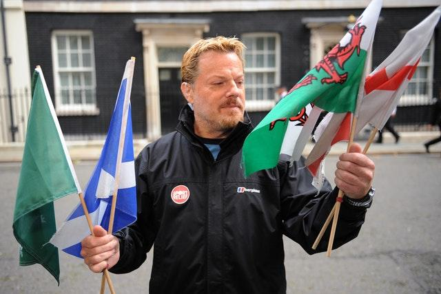 Eddie Izzard ran 27 marathons in as many days (Fiona Hanson/PA)
