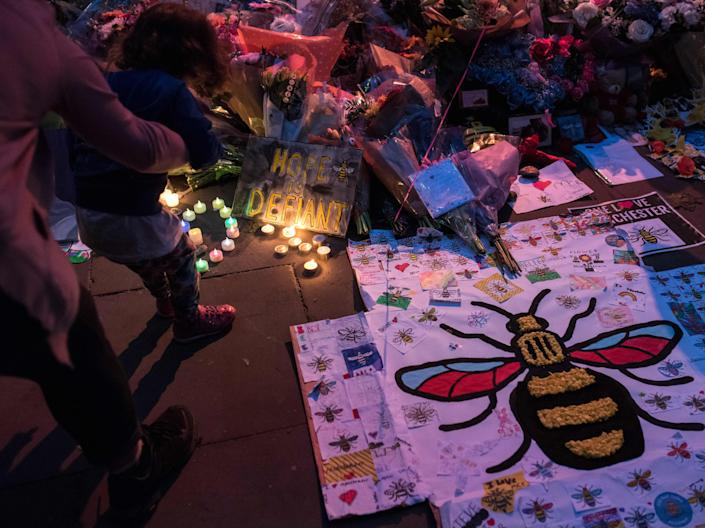 <p>Twenty-two people were killed in the terror attack at Manchester Arena during an Ariana Grande concert in May 2017</p> (AFP via Getty Images)