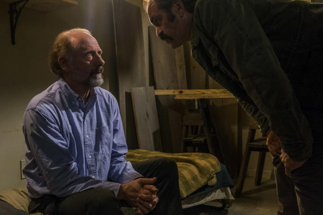 <p>Xander Berkeley as Gregory and Steven Ogg as Simon in AMC's <i>The Walking Dead.><br> (Photo: Gene Page/AMC)</i> </p>