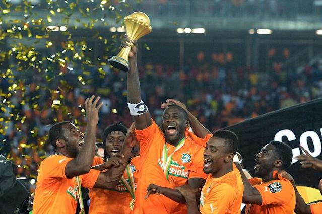 Yaya Toure captained the Ivory Coast to victory over Ghana in the 2015 Africa Cup of Nations final (AFP Photo/KHALED DESOUKI)