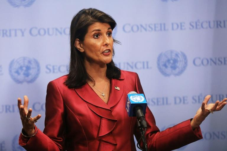 """Washington's United Nations Ambassador Nikki Haley condemned the assault which killed at least 29 people at an Iranian military parade but said President Hassan Rouhani """"has oppressed his people for a long time"""""""