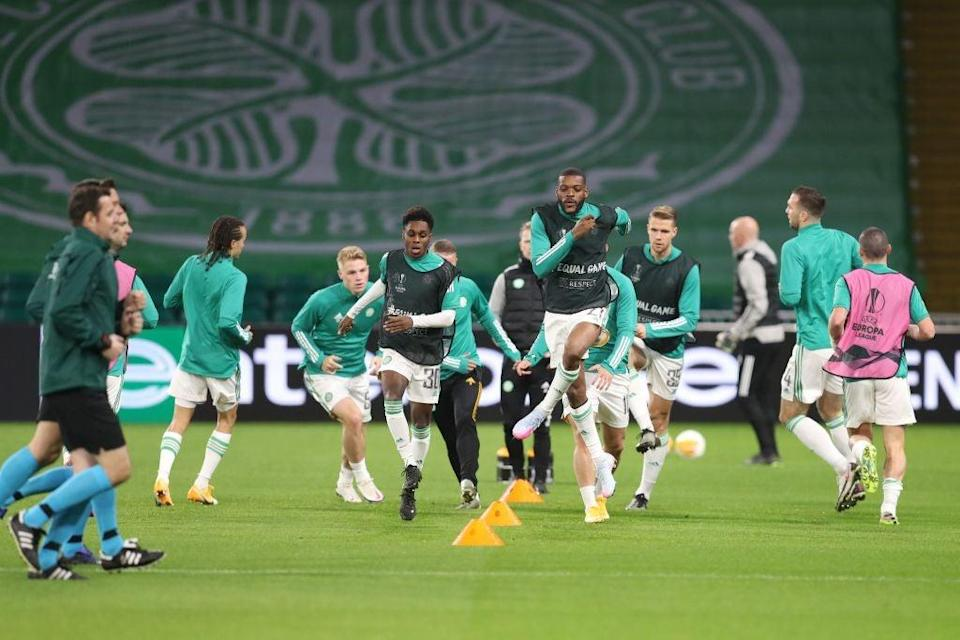 Celtic prepare for a Europa League encounter (POOL/AFP via Getty Images)