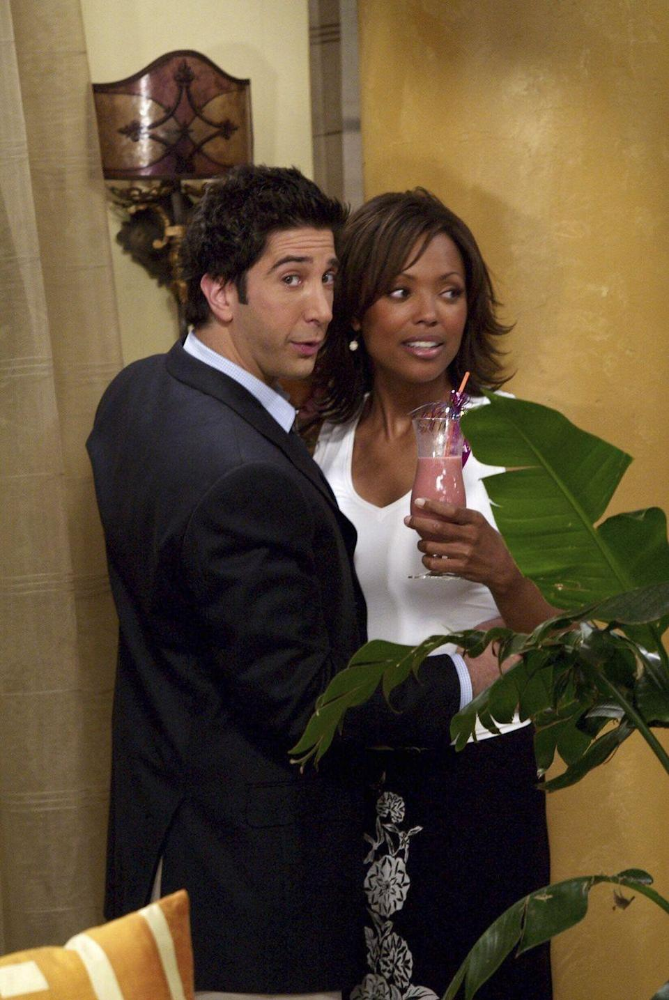 <p>Aisha Tyler started out on the show as Joey's smart paleontologist girlfriend, Charlie. But by the end of her season 9 stint on the show, she had moved on to the more compatible Ross.</p>