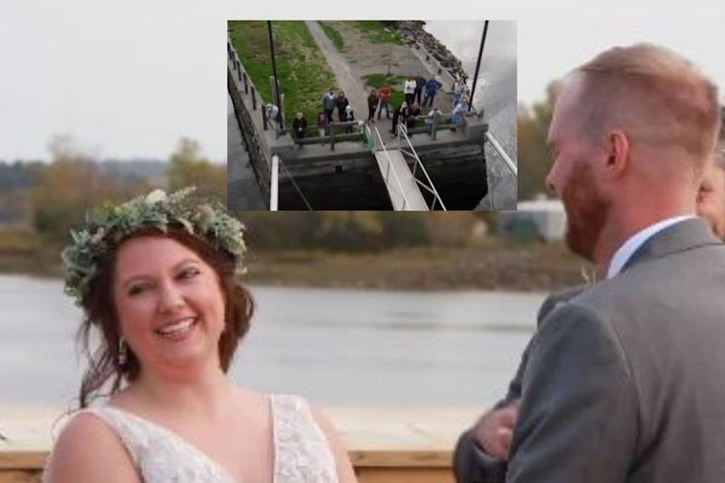 Nova Scotia Couple Weds at US-Canada Border so that Family on the Other Side Can Watch