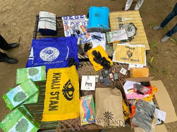 Materials recovered from members of Sikhs for Justice by Punjab police (Photo/ANI)
