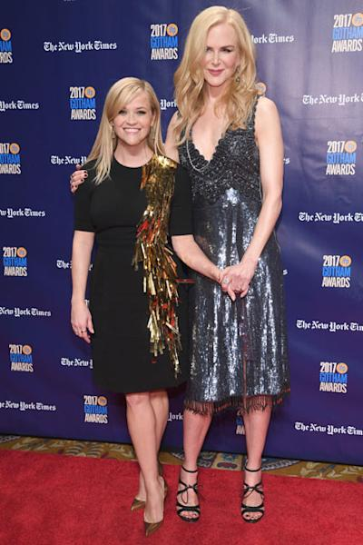 Witherspoon presented her 'Big Little Lies' co-star with the Actress Tribute Award at the 2017 Gotham Independent Film Awards.