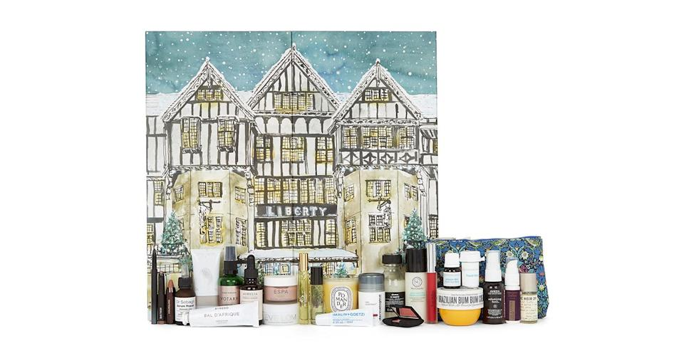 <p>Liberty's beauty calendar always flies off shelves quickly. Despite costing a rather steep £170, it contains over £500 of products from top brands. <em>Available from October 25 at Liberty London.</em> </p>