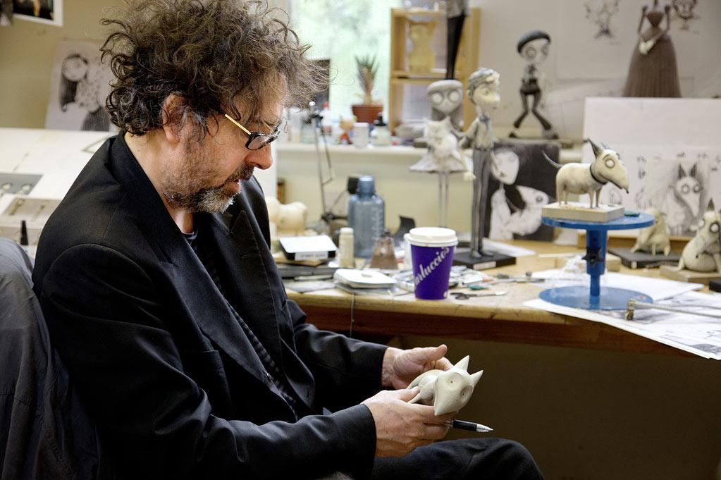 "Tim Burton on the set of Walt Disney Pictures' ""Frankenweenie"" - 2012"