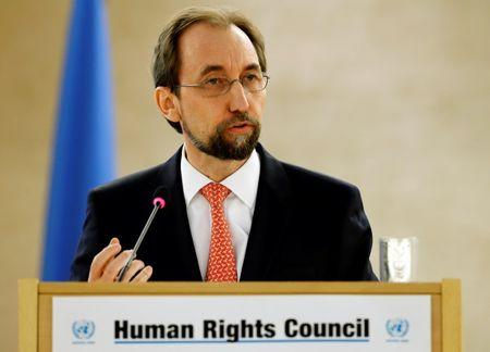 United Nations High Commissioner for Human Rights Al Hussein addresses the 31st session of the Human Rights Council in Geneva