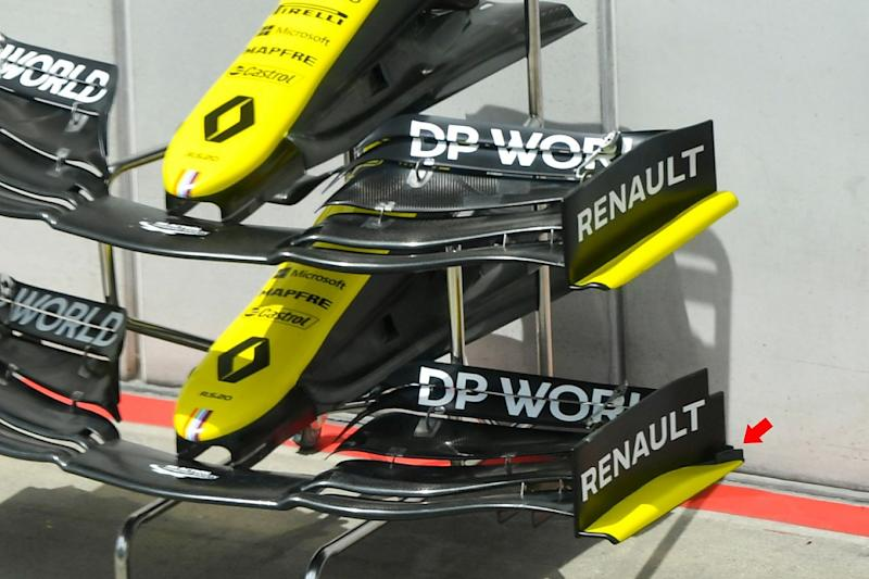 Renault introduces new front wing, bargeboard additions