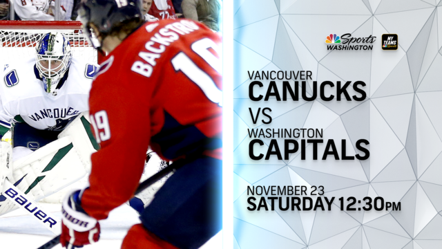 Capitals vs. Canucks Game 25: Time, TV Channel, Live Stream, how to watch
